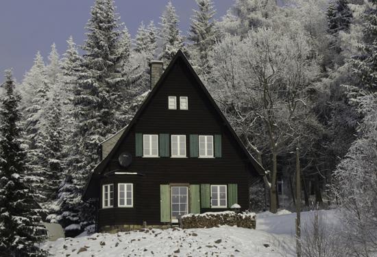 Ferienhaus-Rehefeld im Winter