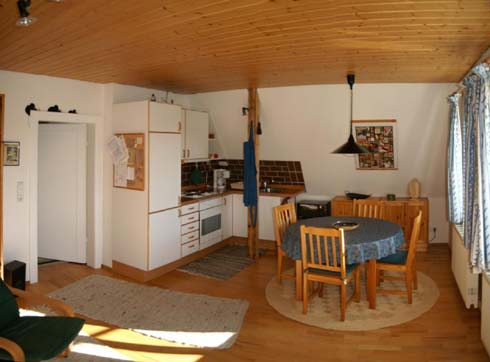 Fewo Josepha Küche und Essecke - Ferienwohnung Altenberg
